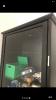 Kelebek mobilya markalı siyah vitrin